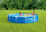 Intex 12' X 30 Metal Frame Round Above Ground Swimming Pool With Pump 🔥new🔥