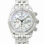 Breitling Chonomat Evolution Automatic White Shell Dial A13356 Mens 90126708