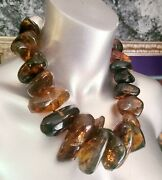 Amber Statement Necklace Chiapas Mexican Amber Katrox Luxury Unisex Bold Chunky