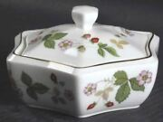 Wedgwood China Wild Strawberry Ring Box And Lid - Discontinued