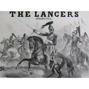 The Lancers Victor Coindre Illustration 19th Sheet Music Score