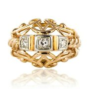 Ring Vintage Thread Dand039 Rose Gold Diamonds Vintage Jewelry Antiques
