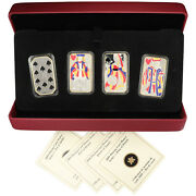 2008/2009 Colourized 4-coin Sterling Silver Playing Card Money Set Www135