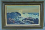 Oil Painting Ruth Bernice Anderson 1914-2002 Listed Indiana Artist Seascape