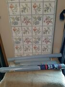Vintage Contact Paper Jumbo Roll And 3 Rolls Solid Blue Washable Strippable