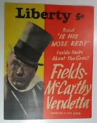 Liberty Magaine Sept 4 1937 Advertisment Sign Store Display W C Fields Max Bra