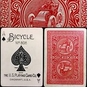 C1905 Bicycle Antique Playing Cards 52/52 Mid Grade Uspcc Poker Automobile 1