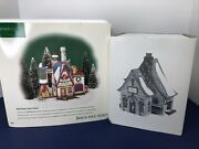 Department 56 Christmas North Pole Real Snow Factory Popcorn Lot Of 2 W/ Box O