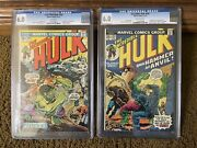 Incredible Hulk 180 And 182 Cgc 6.0 1st App. Wolverine Cameo