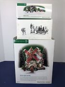 Department 56 Christmas North Pole Northern Lights Tinsel Elves Lot 3 W/ Box Y
