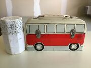 Vintage 1960s V.w. Bus Lunchbox And Thermos