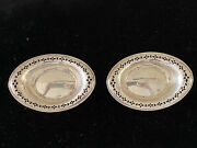 Set Of Two And Co Sterling Silver Open Salt Cellars