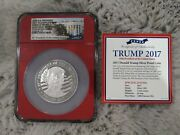 Donald Trump 45th Us President 2017 Silver 1troy Oz Proof Coin Pf 70 Ultra Cam