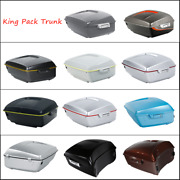 Painted King Pack Trunk Fit For Harley Tour Pak Road Street Electra Glide 14-21