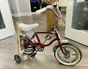 Vintage 1970and039s Original Red Schwinn And039lil Tigerand039 Bicycle - Restored - See Photos
