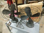 Pair Vintage Robbins And Myers Electric Fan Model Ch16 1/23 16 Inch Blades