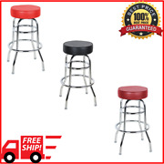 Double Ring Barstool With 3 1/2 Thick Swivel Seat Bar Pub Restaurant Seating