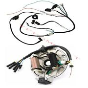125 150cc Quad Scooter Electric Wiring Harness Kit Magneto Stator W/ Light Wire