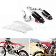 For 03-16 Honda Crf150f Crf230f Motocross Complete Muffler Exhaust Pipes System