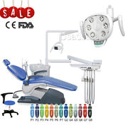 Dental Chair Patient Stool Unit Hard Leather Computer Controlled/ Lamp Led Light