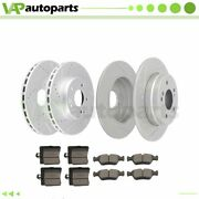 Brake Pads And Rotors Front Rear For Mercedes-benz C230 1999-2000 Drilled
