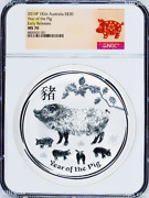 2019 Lunar Year Of The Pig Kilo .9999 Silver 30 Ngc Ms70 Coin Er