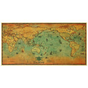Wall Poster Globe Map School Maps Vintage Journal Poster Vintage World Map