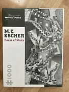 M.c. Escher House Of Stairs Pomegranate 1000 Piece Jigsaw Puzzle.