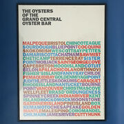 Nyc 90's The Oysters Of The Grand Central Oyster Bar Poster By Rudolph De Harak
