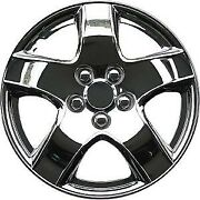 998 Universal Wheel Cover Abs Wheel Skins Set Hub Caps Chrome 14and039and039 - Set Of 4
