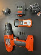 Black And Decker 12v Drill With Battery, Stud Sensor, Charger, 4 Bits, And Case