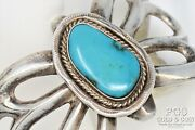 Old Pawn Navajo Coin Silver Turquoise Butterfly Cuff, Pendant 102.8 Gr 20993