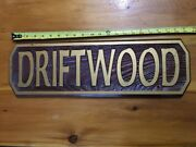 Vintage Boat Sign Wood Carved Driftwood Nautical -
