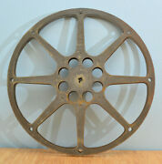 Vintage Bell And Howell 1600 Steel Film Reel Near 13.75 Inches Good As Is