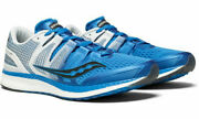 Mens Saucony Liberty Iso Mens Running Shoes White Blue Black Lace Up New Runners