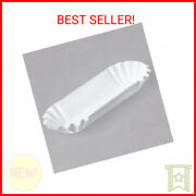 Heavy Weight 6 White Paper Fluted Hot Dog Tray - 3000/case
