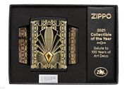 Zippo ★ Art Deco 2021 Collectible Of The Year - Crystal - 1 Of 5000