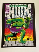 Hulk King Size Annual Special 1 W/inhumans Marvel Comics Poster By Jim Steranko