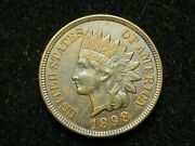 Blow Out Sale Au 1899 Indian Head Cent Penny W/diamonds And Full Liberty 107
