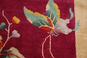 C1920s Antique Art Deco Walter Nichols Chinese Rug 2and039 X 2and03910 Butterflyhappy