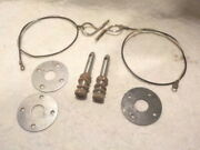 Oem Assembly Line Cowl Induction Stainless Hood Pin Plate Lanyards Pins Chevelle