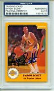 1983-84 Star 22 Byron Scott Rookie Card Psa/dna Authentic Auto Lakers Great