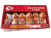 Kansas City Chiefs Collectible Bbq Sauce Set Limited Edition 6 Sauces Included