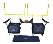 Qb54 Outdoor Chair Game Set Limited Edition Navy Blue Backyard Game Tailgate