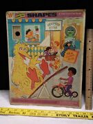Whitman Sesame Street Muppets 1971 Frame Tray Puzzle Push Out Pieces See Descrip