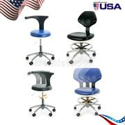 Dental Doctor Assistant Stool Adjustable Height Mobile Chair 360°rotation Pu