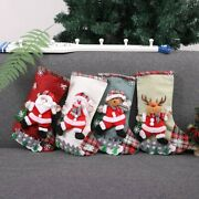 10x4pcs Christmas Stockings Cloth Small Boots Gift Bags Ornaments Party Home