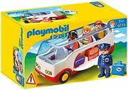 Playmobil 1.2.3 Airport Shuttle Bus Toys For Children 1.5 Years Old, Multicolou