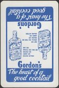 Playing Cards 1 Single Card Old Vintage Gordon's Dry Gin Advertising Bottle
