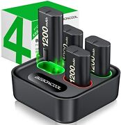 Charger For Xbox One Controller Battery Pack, With 4 X 1200mah Rechargeable Xbox